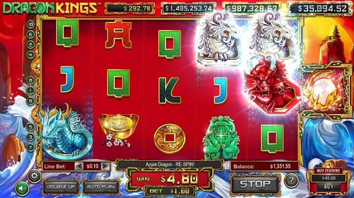 dragon kings slot screen