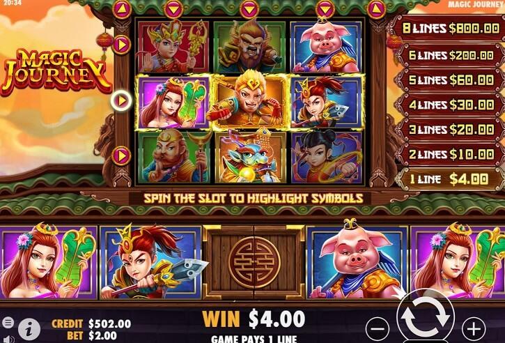 magic journey slot screen