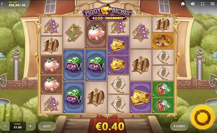 piggy riches megaways slot screen