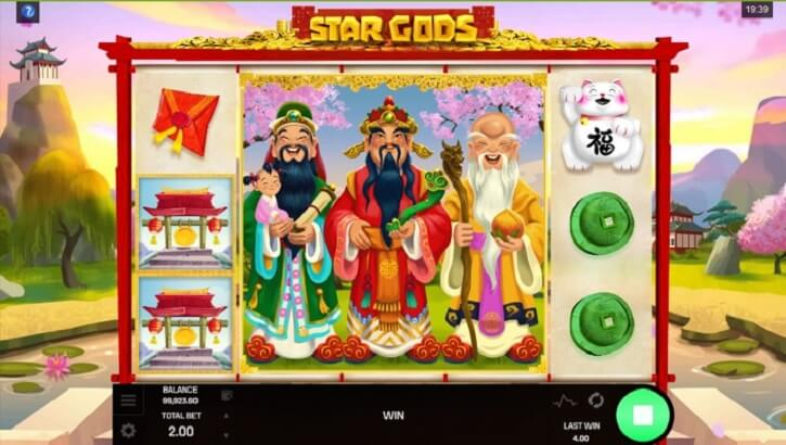 star gods slot screen