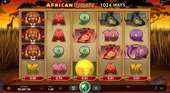 african quest slot screen