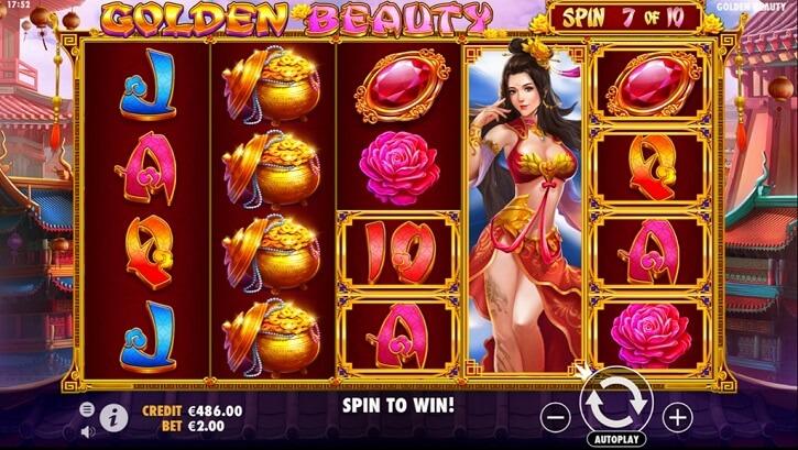 golden beauty slot screen