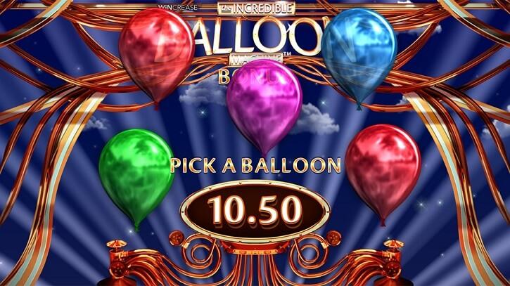 the incredible balloon machine slot bonus