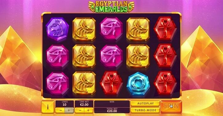 egyptian emeralds slot screen