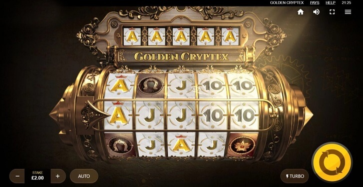 golden cryptex slot screen