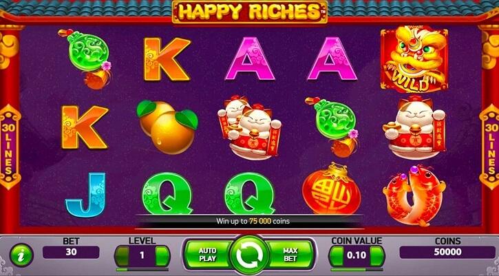 happy riches slot screen