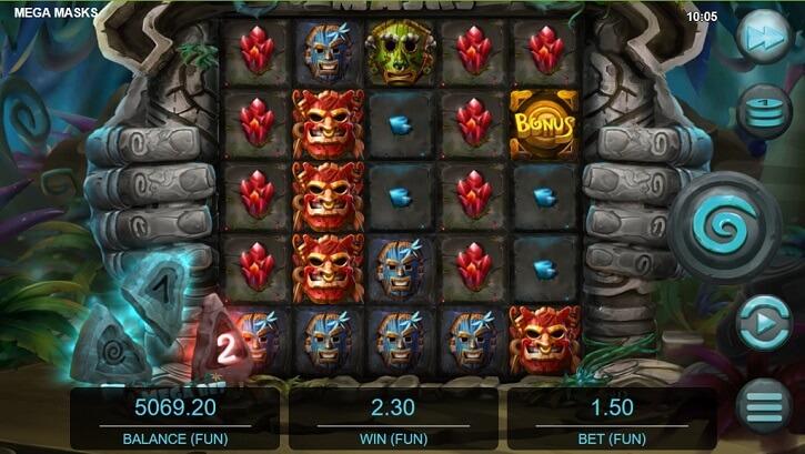 mega masks slot screen
