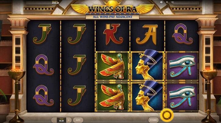 wings of ra slot screen