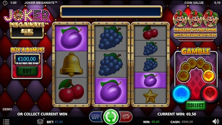 joker megaways slot screen