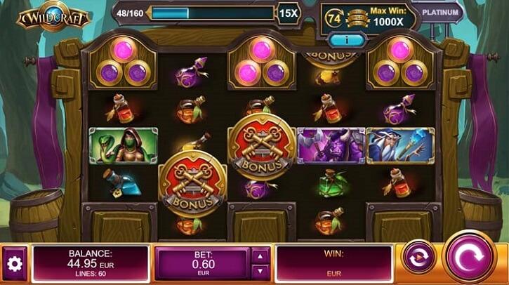 wildcraft slot screen
