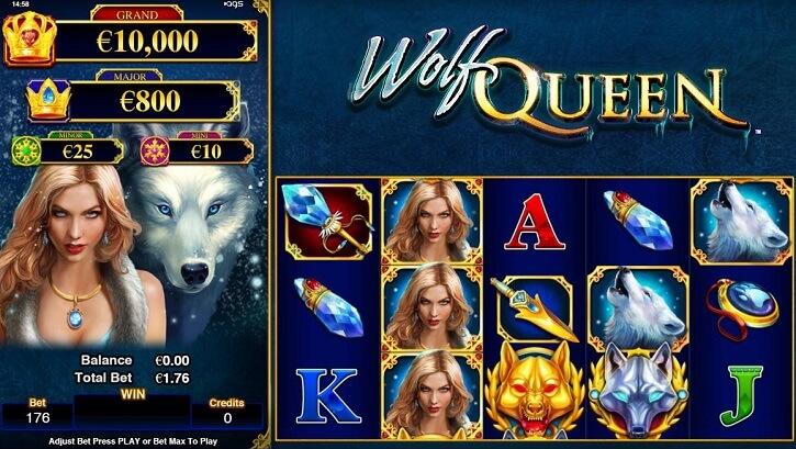 wolf queen slot screen