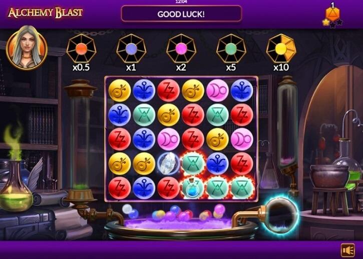 alchemy blast slot screen
