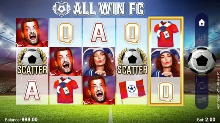 all win fc slot screen