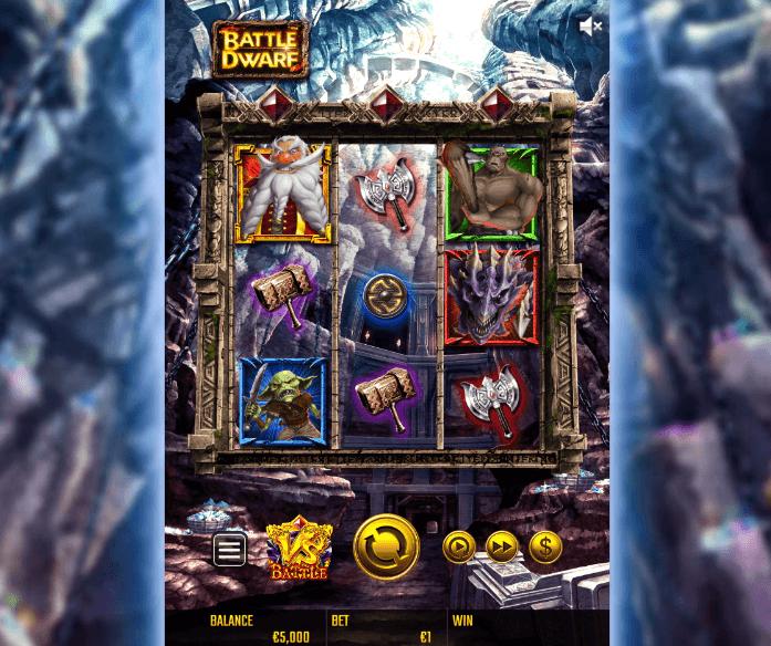 battle dwarf slot screen