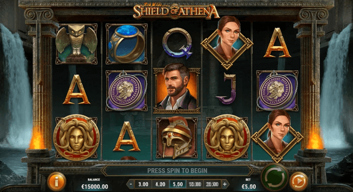 rich wilde and the shield of athena slot screen