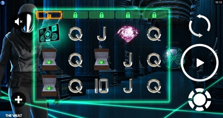the vault slot screen
