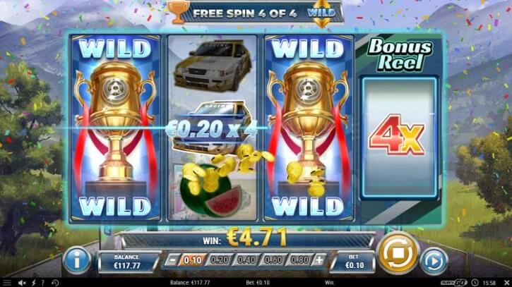 rally 4 riches slot screen