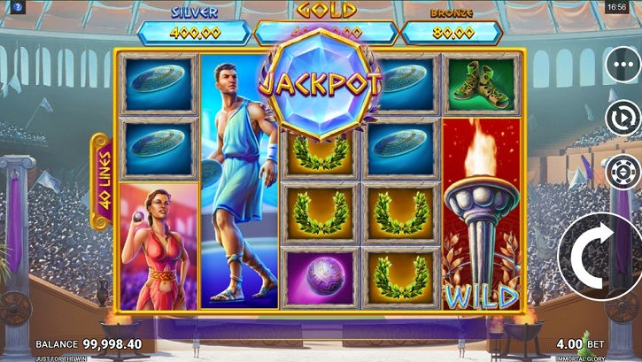 immortal glory slot screen