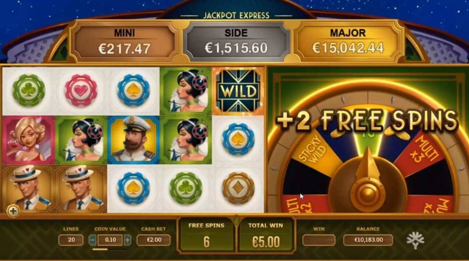 jackpot express slot screen