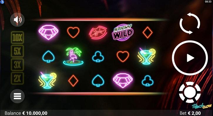 miami glow slot screen