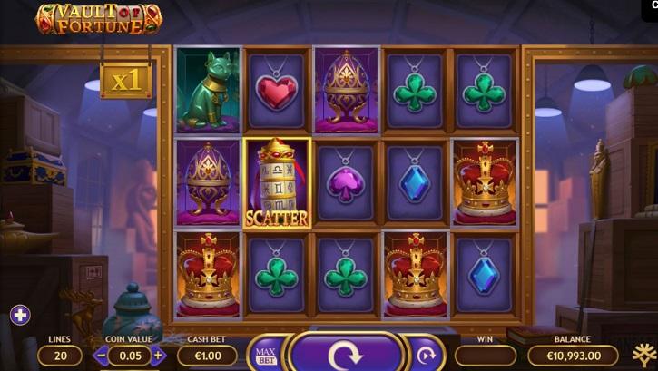 vault of fortune slot screen