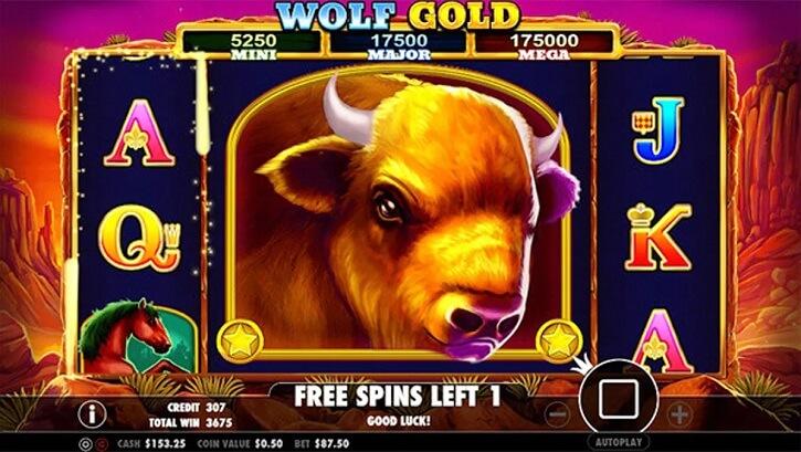 wolf gold slot bonus freespins