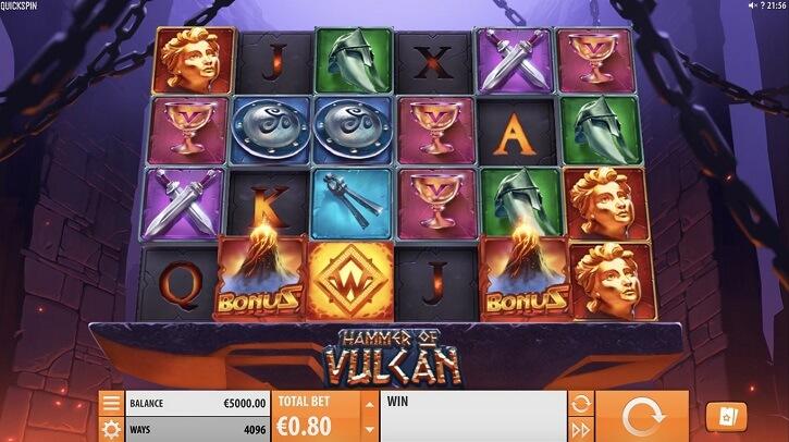 hammer of vulcan slot screen