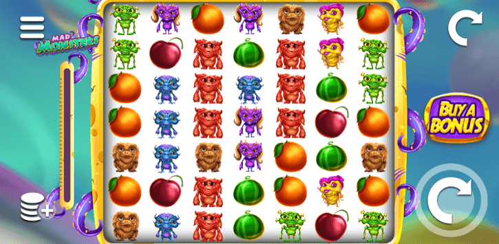 mad monsters slot screen