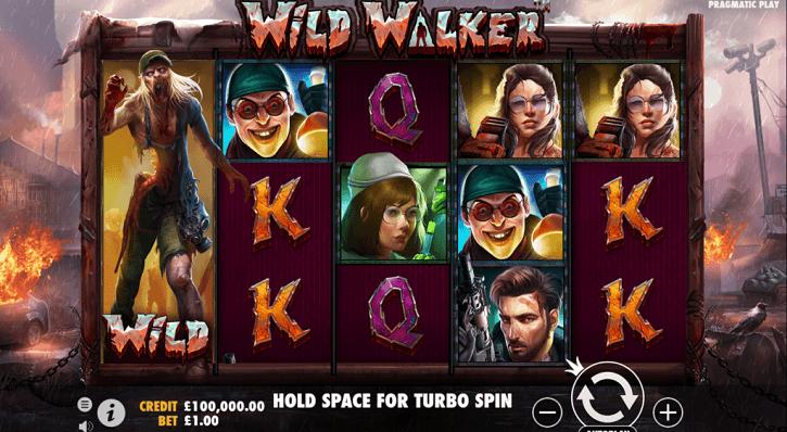 wild walker slot screen