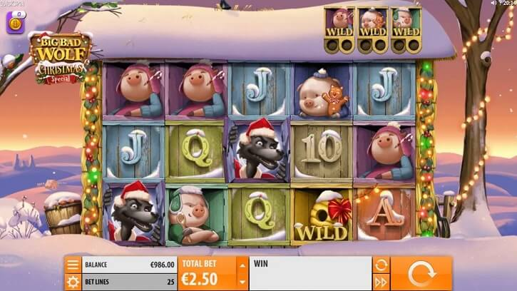 big bad wolf christmas special slot screen