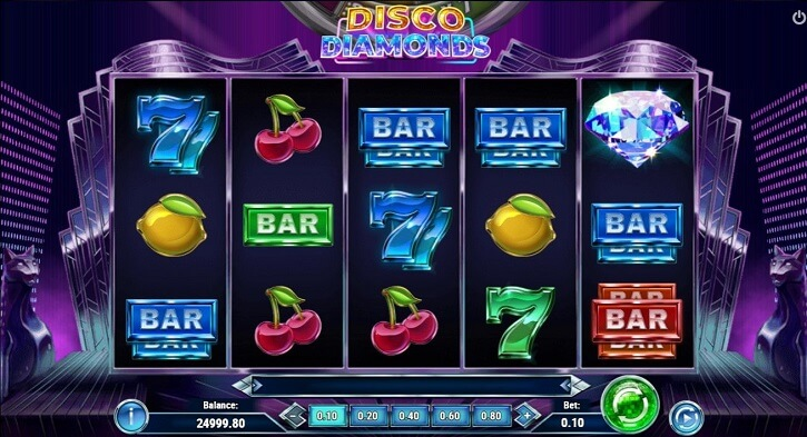 disco diamonds slot screen