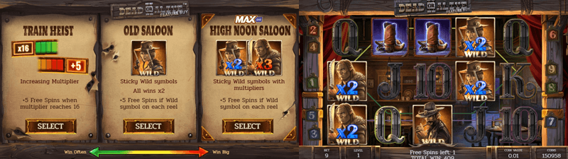dead or alive 2 buy features slot screen