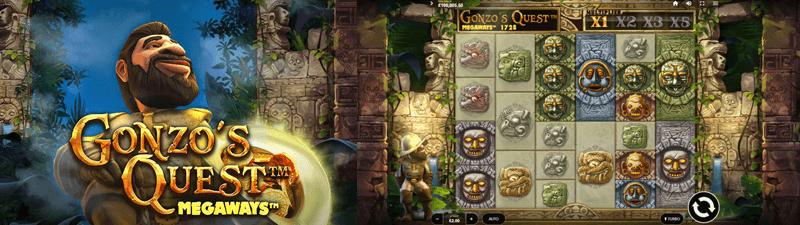 gonzos quest megaways slot screen