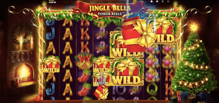 jingle bells power reels slot screen