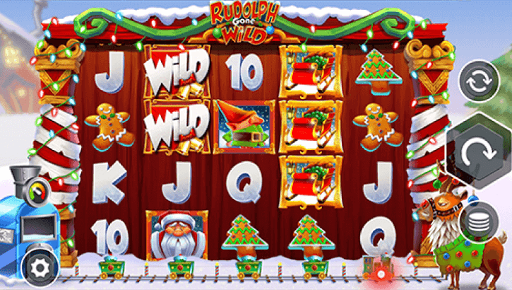 rudolph gone wild slot screen