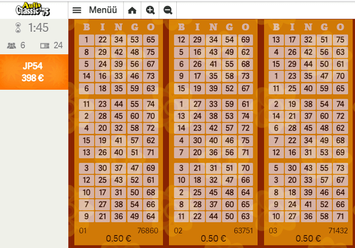 paf bingo aulis classic game