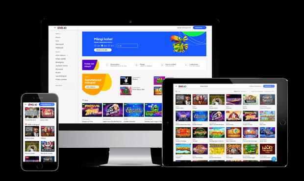 slots.io website screens