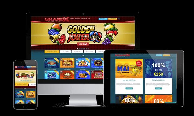 grandx kasiino websites screens