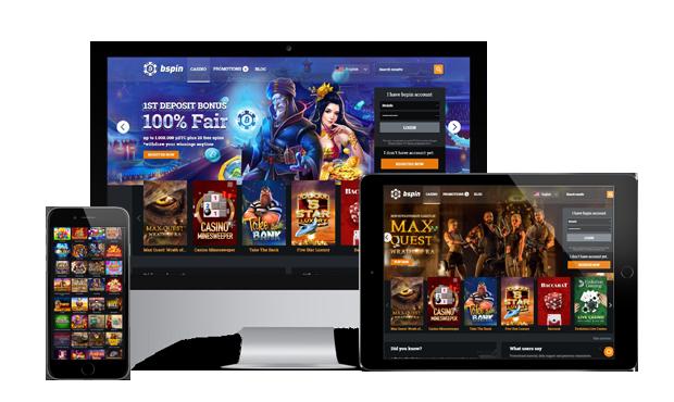 bspin casino website main