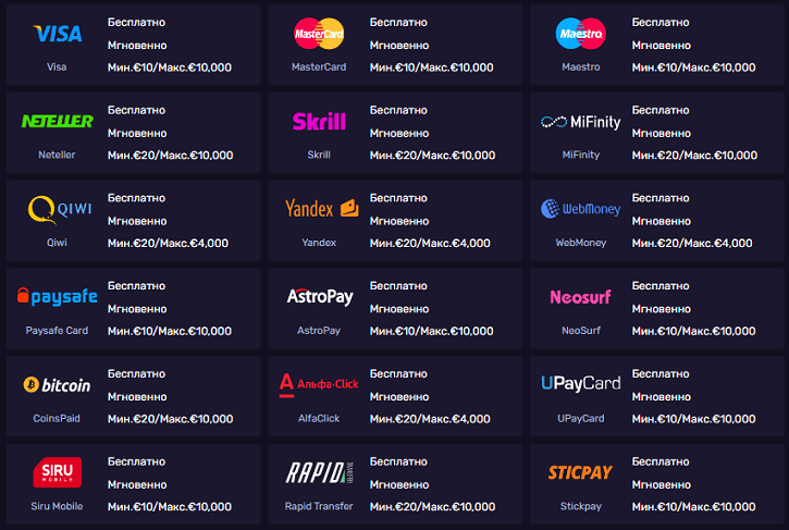 dlx casino payment methods rus