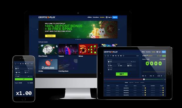 cryptoplay casino website screens