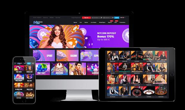 mystake casino website screens