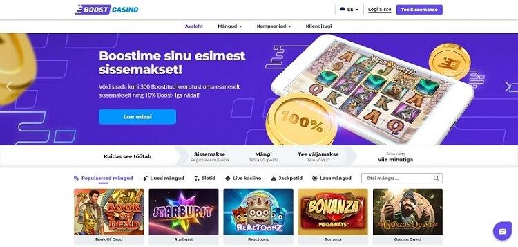 boost casino veebileht